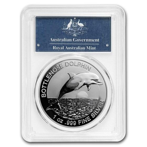 2019 Australia 1 oz Silver Dolphin MS-70 PCGS (FirstStrike®)