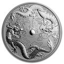 2019 Australia 1 oz Silver Double Dragon BU