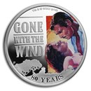 2019 Australia 1 oz Silver Gone with the Wind 80th Anniv Proof