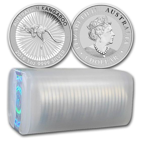 2019 Australia 1 oz Silver Kangaroo (25-Coin Tube)