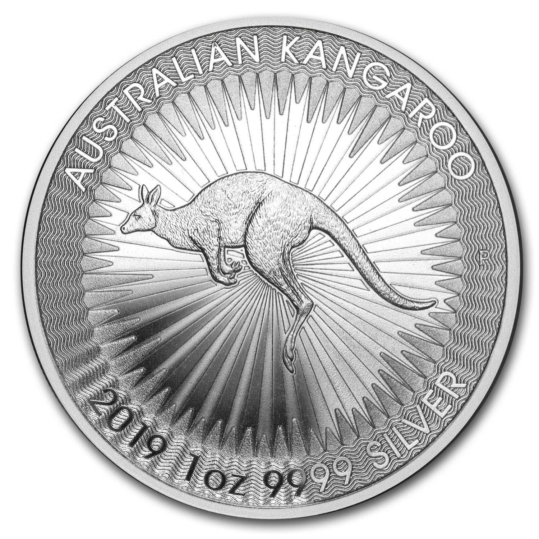 2019 $1 Australia 1 Troy Oz .9999 Fine Silver Perth Kangaroo Coin