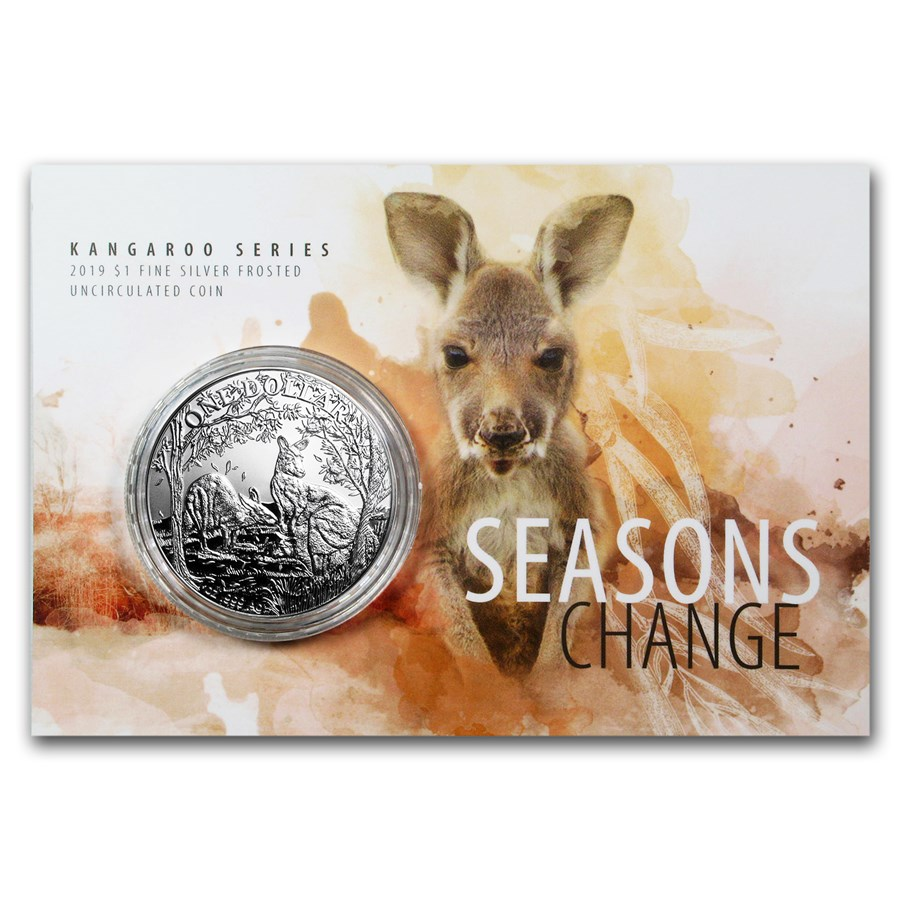 2019 Australia 1 oz Silver Kangaroo (Display Card)