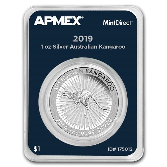 2019 Australia 1 oz Silver Kangaroo (MintDirect® Single)
