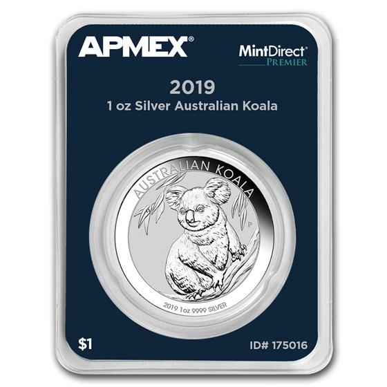 2019 Australia 1 oz Silver Koala (MintDirect® Premier Single)