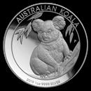 2019 Australia 1 oz Silver Koala Proof (High Relief, w/Box & COA)