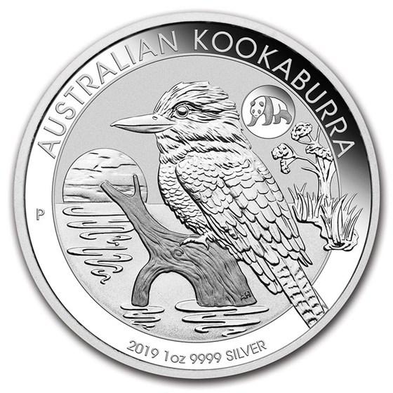 2019 Australia 1 oz Silver Kookaburra BU (Panda Privy)