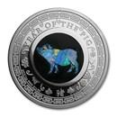 2019 Australia 1 oz Silver Opal Lunar Pig Proof