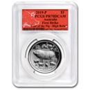 2019 Australia 1 oz Silver Pig HR PR-70 PCGS (FS, Red Label)