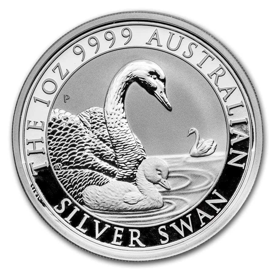 2019 Australia 1 oz Silver Swan BU