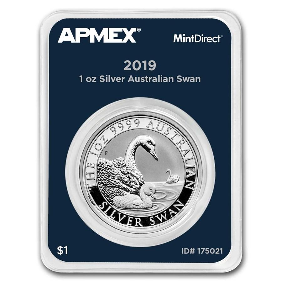 2019 Australia 1 oz Silver Swan (MintDirect® Single)