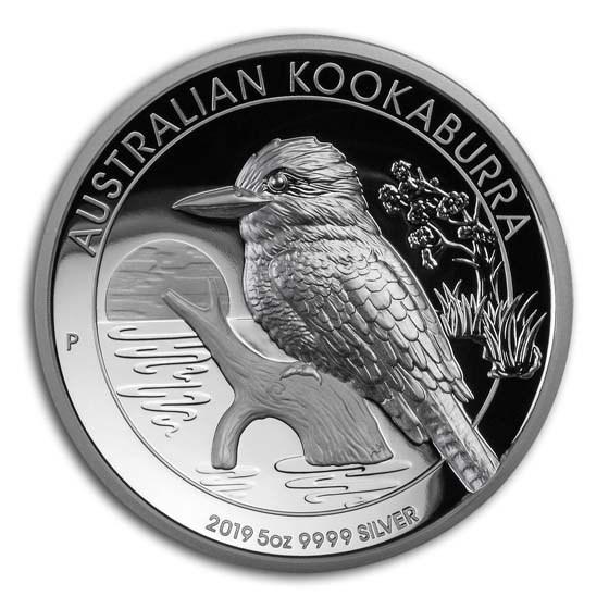 2019 Australia 5 oz Silver Kookaburra Proof (High Relief)