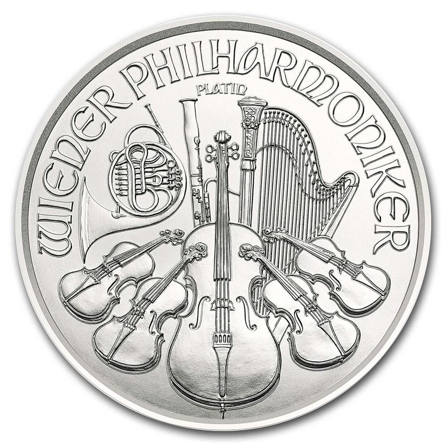 2019 Austria 1/25 oz Platinum Philharmonic BU