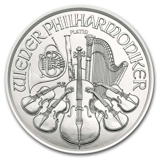 2019 Austria 1 oz Platinum Philharmonic BU