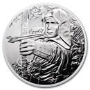 2019 Austria 1 oz Silver 825th Anniversary Robin Hood BU