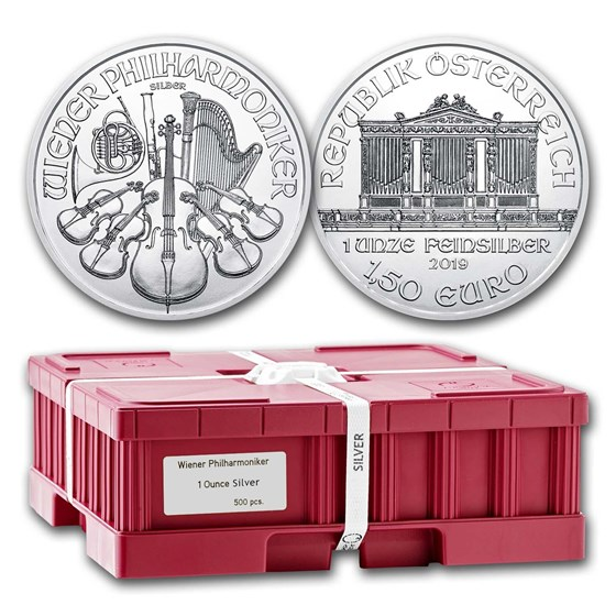 2019 Austria 500-Coin 1 oz Silver Philharmonics (Sealed Box)