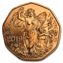2019 Austria Copper €5 New Year's Joy of Living
