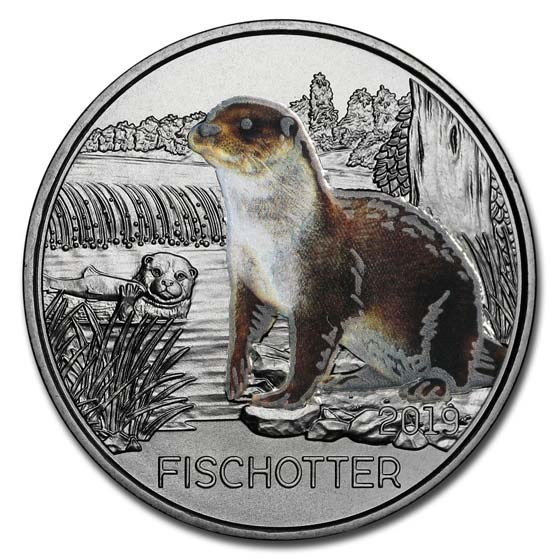 2019 Austria Cupro-Nickel €3 Colorful Creatures (The Otter)