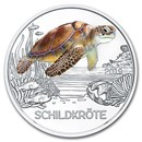 2019 Austria Cupro-Nickel €3 Colorful Creatures (The Turtle)
