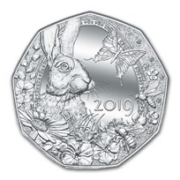 2019 Austria Silver €5 Easter Bunny