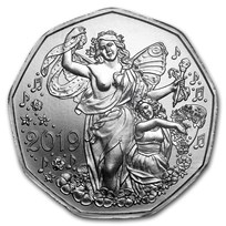 2019 Austria Silver €5 New Year's Joy of Living