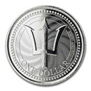 2019 Barbados 1 oz Silver Trident BU