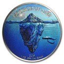 2019 Benin 1 oz Silver 1,000 Francs Source of Life: Water