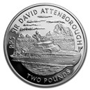 2019 British Antarctic Terr. Silver RRS Sir David Attenborough Pf