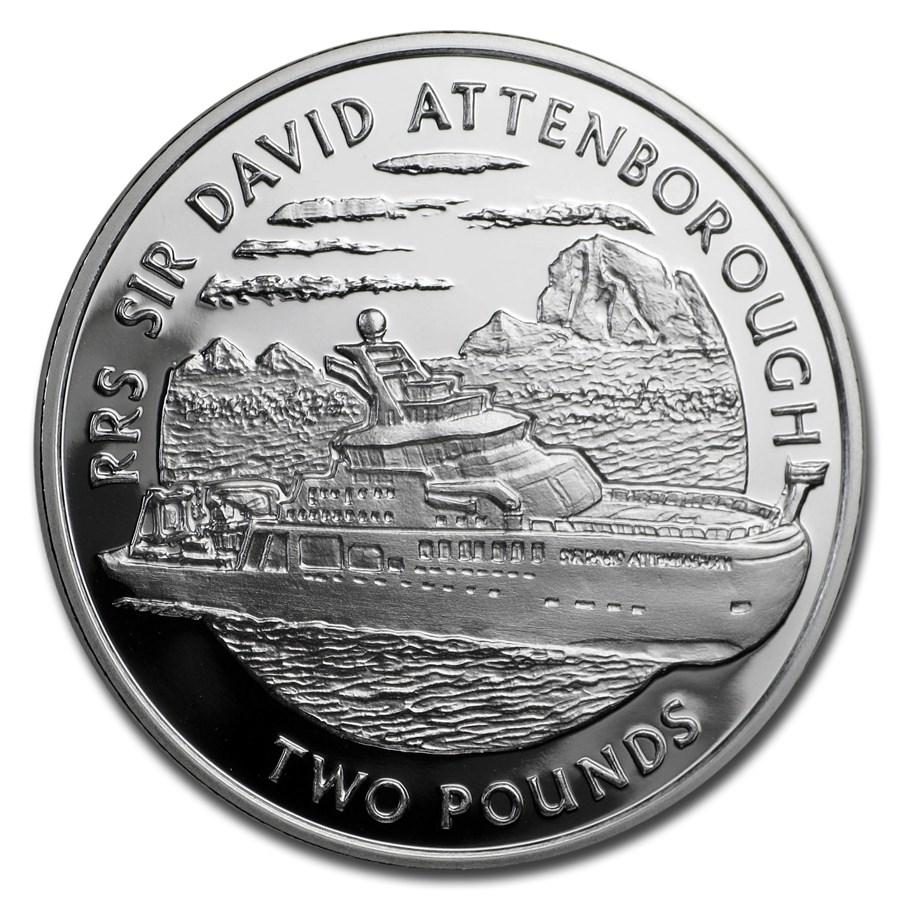 2019 British Antarctic Terr. Silver RRS Sir David Attenborough Pf