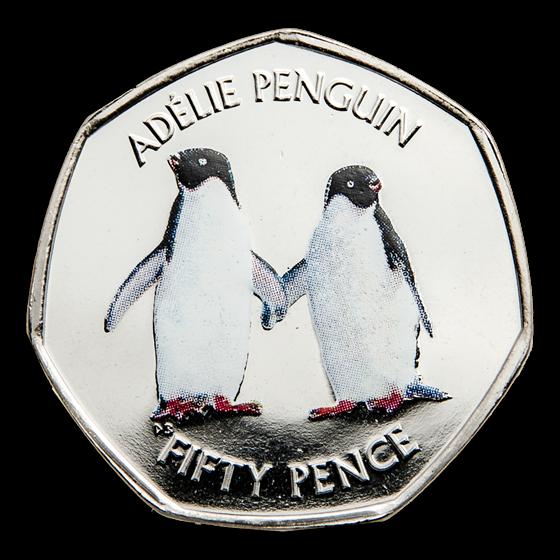 2019 British Antarctic Territory Cupro-Nickel Adélie Penguin