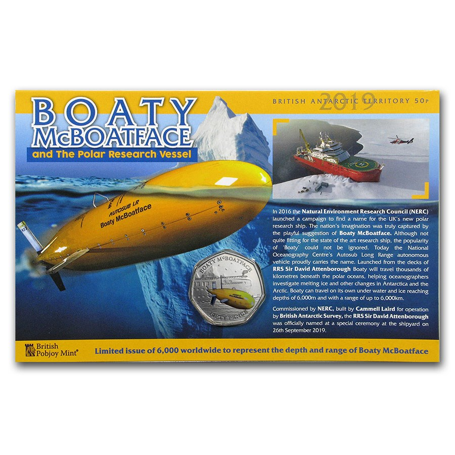 2019 British Antarctic Territory Cupro-Nickel Boaty McBoatface