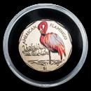 2019 British Virgin Islands Virenium $1 American Flamingo