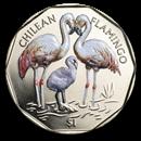 2019 British Virgin Islands Virenium $1 Chilean Flamingo