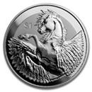 2019 BVI 1 oz Silver Pegasus Reverse Frosted BU