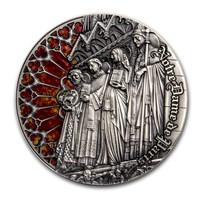 2019 Cameroon 2 oz Antique Silver Notre Dame De Paris