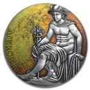 2019 Cameroon 3 oz Antique Silver Planets and Gods - Mercury