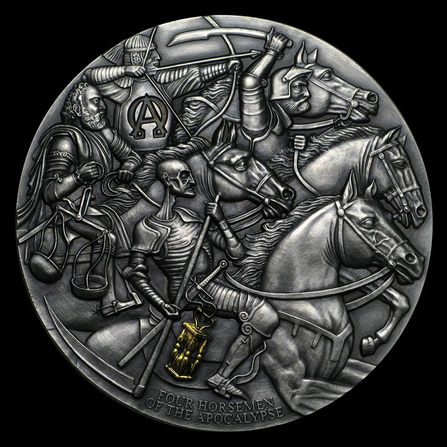 2019 Cameroon 3 oz Silver The Four Horsemen of the Apocalypse
