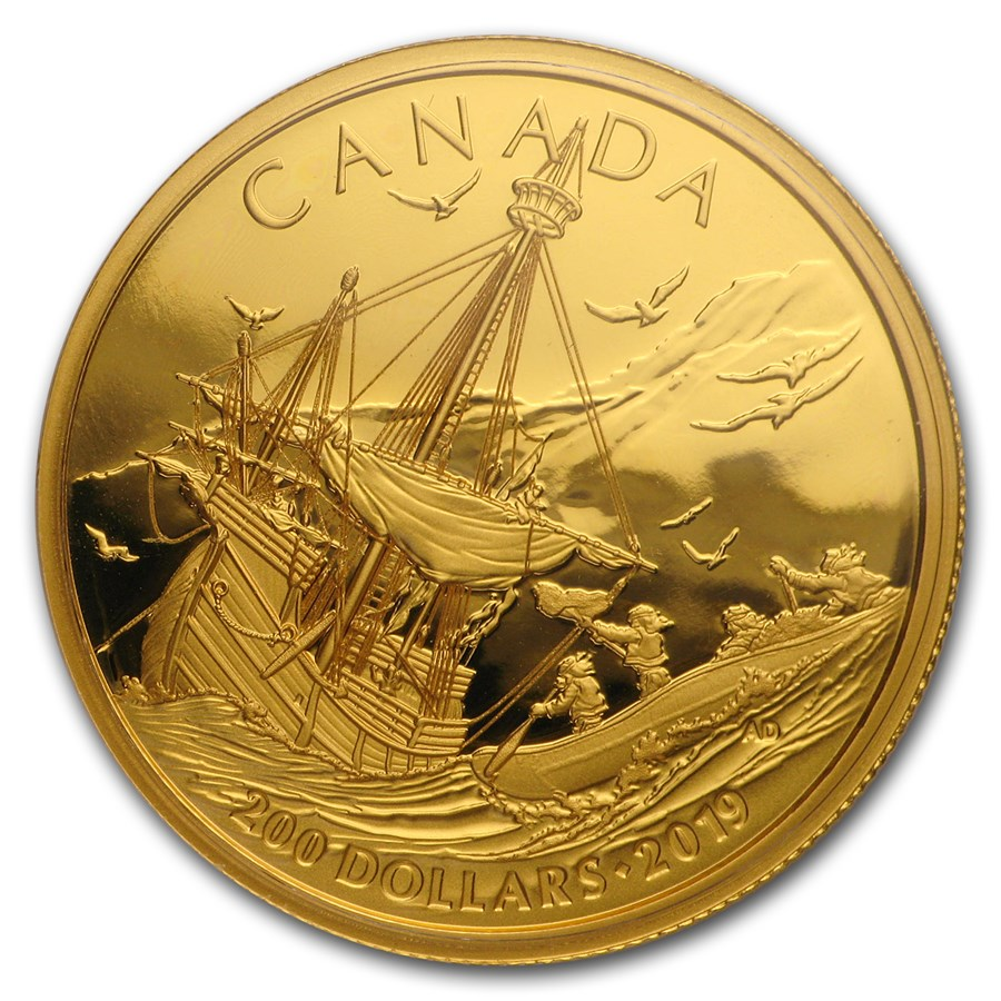 2019 Canada 1/2 oz Gold $200 Arrival of the Europeans