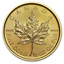 2019 Canada 1/2 oz Gold Maple Leaf BU