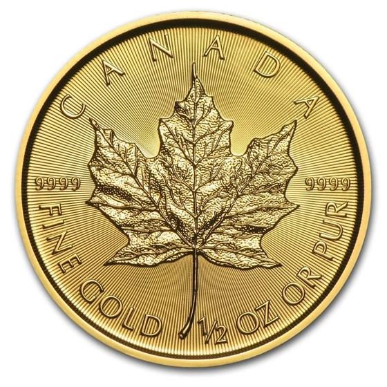 2019 Canada 1/2 oz Gold Maple Leaf BU