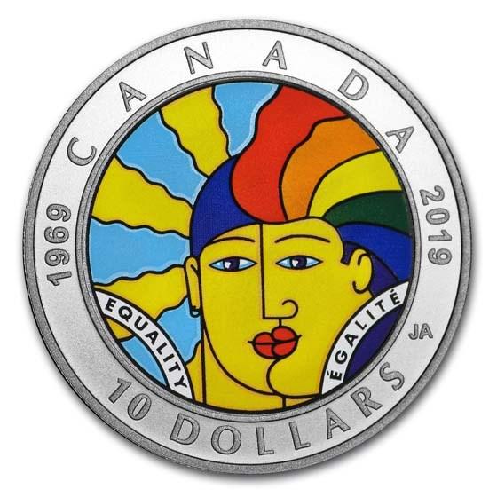 2019 Canada 1/2 oz Silver $10 Equality