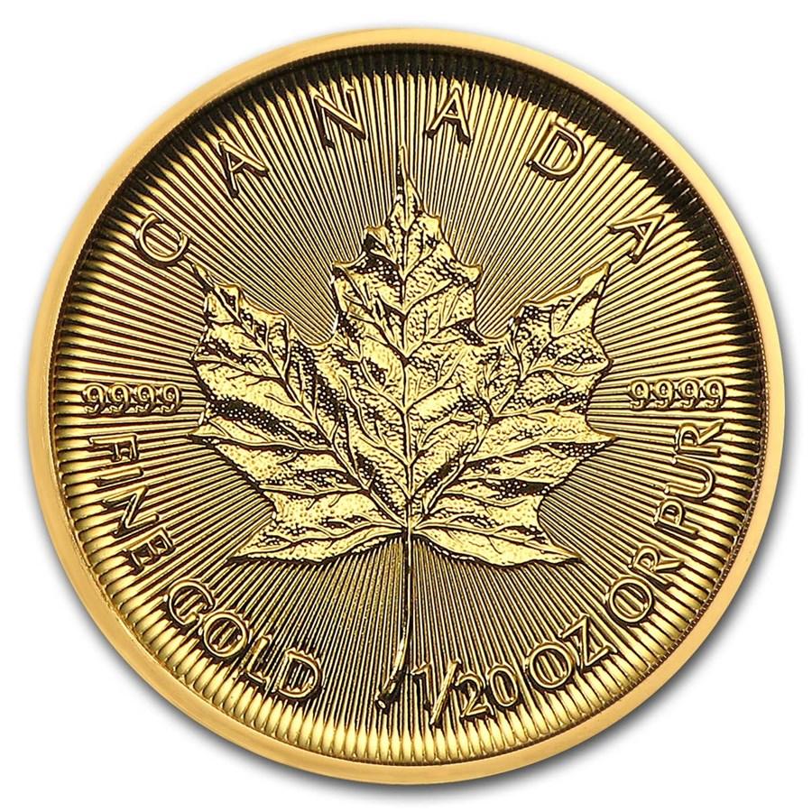 2019 Canada 1/20 oz Gold Maple Leaf BU