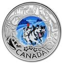 2019 Canada 1/4 oz Ag $3 Celebrating Canadian Fun: Dogsledding