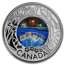 2019 Canada 1/4 oz Ag $3 Celebrating Canadian Fun: Niagara Falls