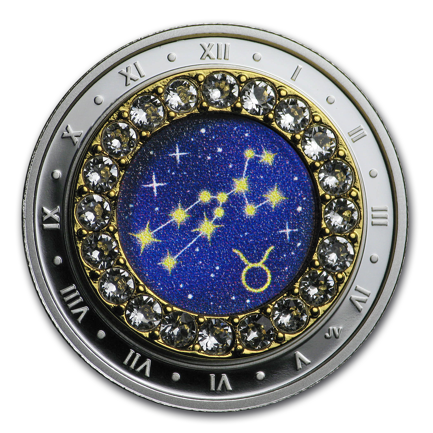 2019 Virgo Zodiac $5 1//4OZ Pure Silver Proof Canada 27mm Coin with Crystal