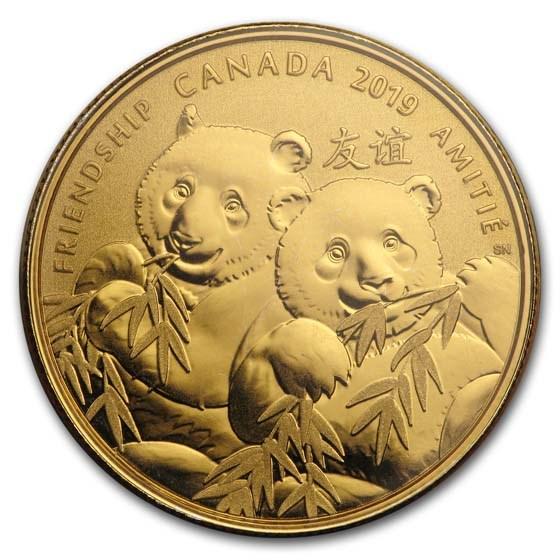 2019 Canada 1/4 oz Silver $8 Pandas: A Golden Gift of Friendship