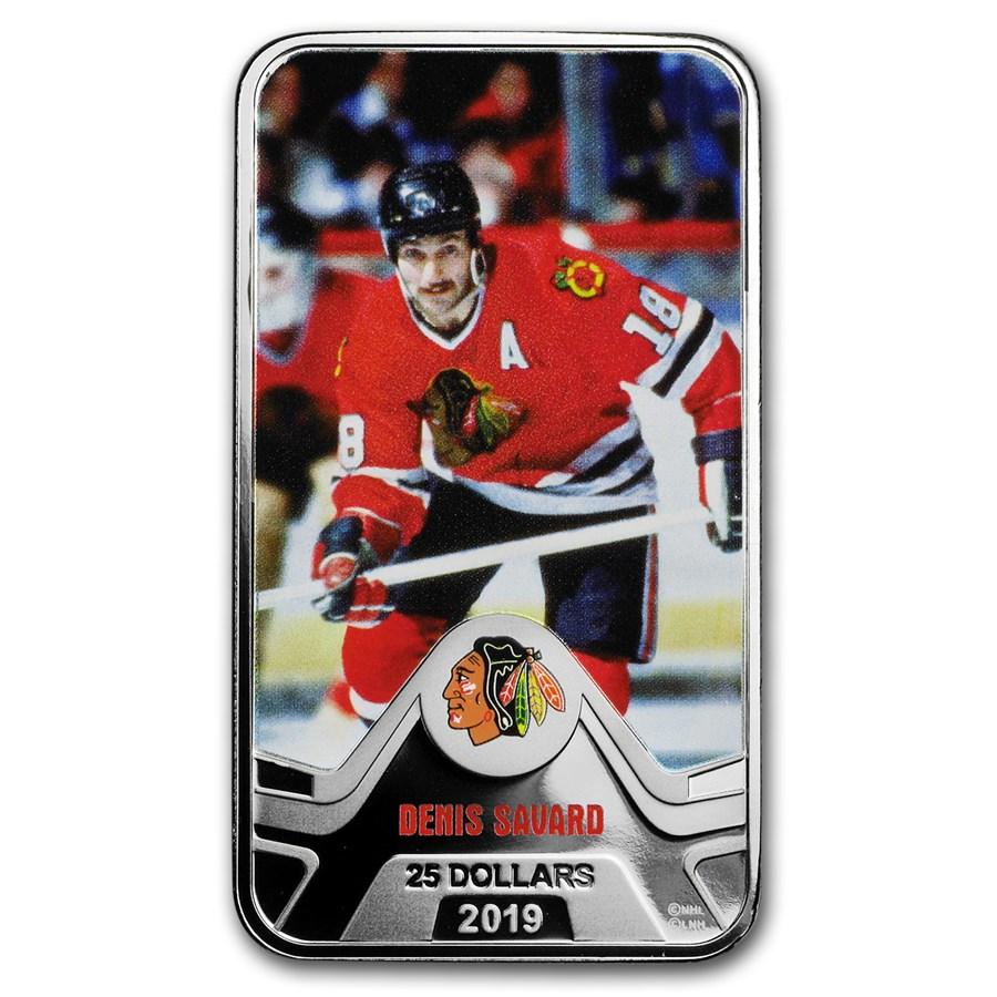 2019 Canada 1.5 oz Silver $25 Chicago Blackhawks: Denis Savard