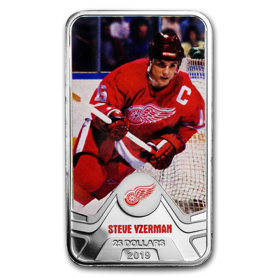 2019 Canada 1.5 oz Silver $25 Detroit Red Wings: Steve Yzerman