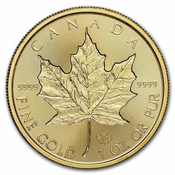 2019 Canada 1 oz Gold Incuse Maple Leaf (Abrasions)