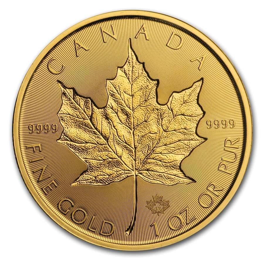 2019 Canada 1 oz Gold Incuse Maple Leaf BU