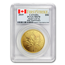 2019 Canada 1 oz Gold Incuse Maple Leaf MS-70 PCGS (FirstStrike®)